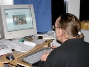 Ole ved computer